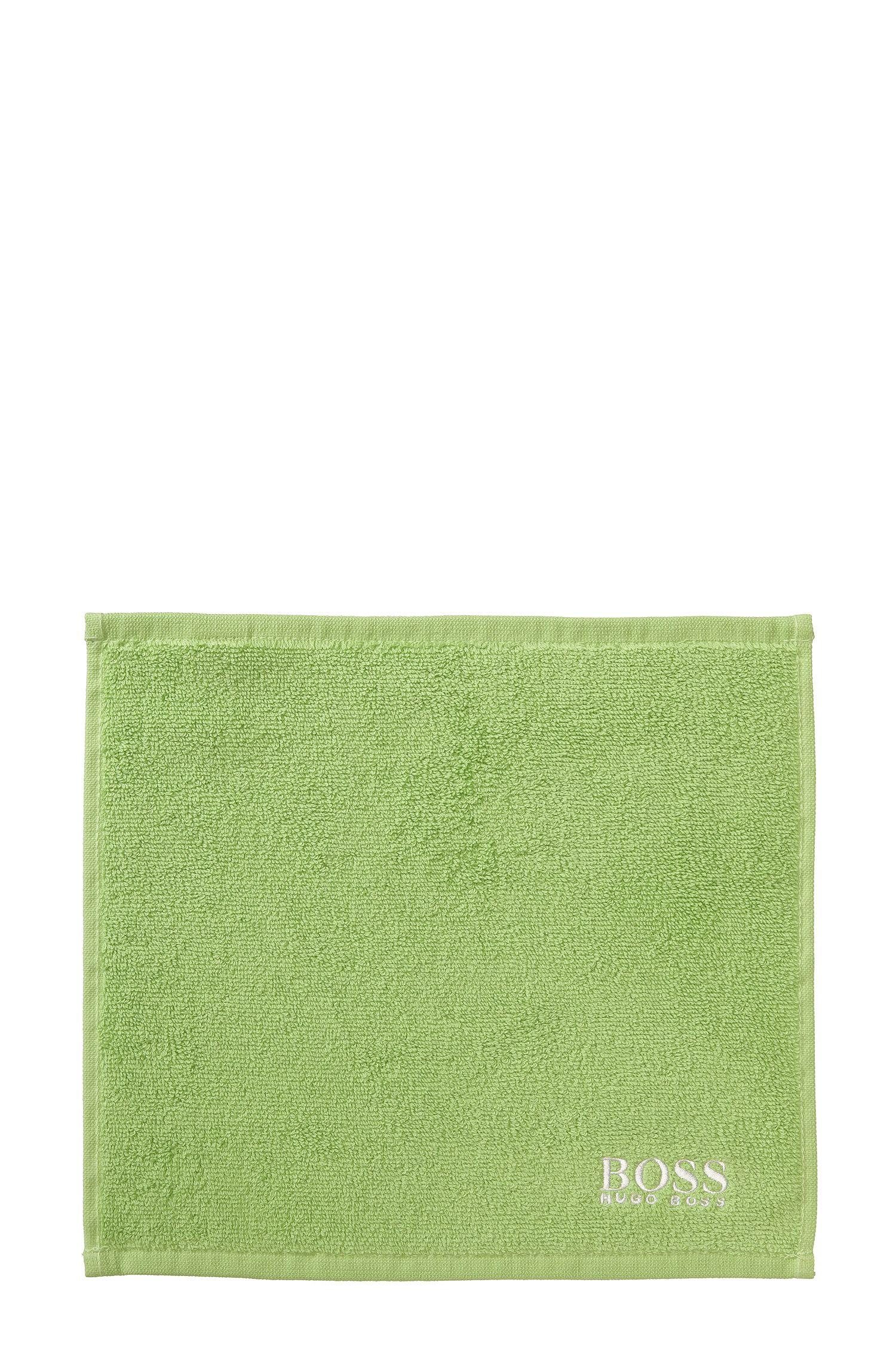 Serviette de toilette pour le visage en coton égyptien des plus raffinés avec logo brodé, Vert