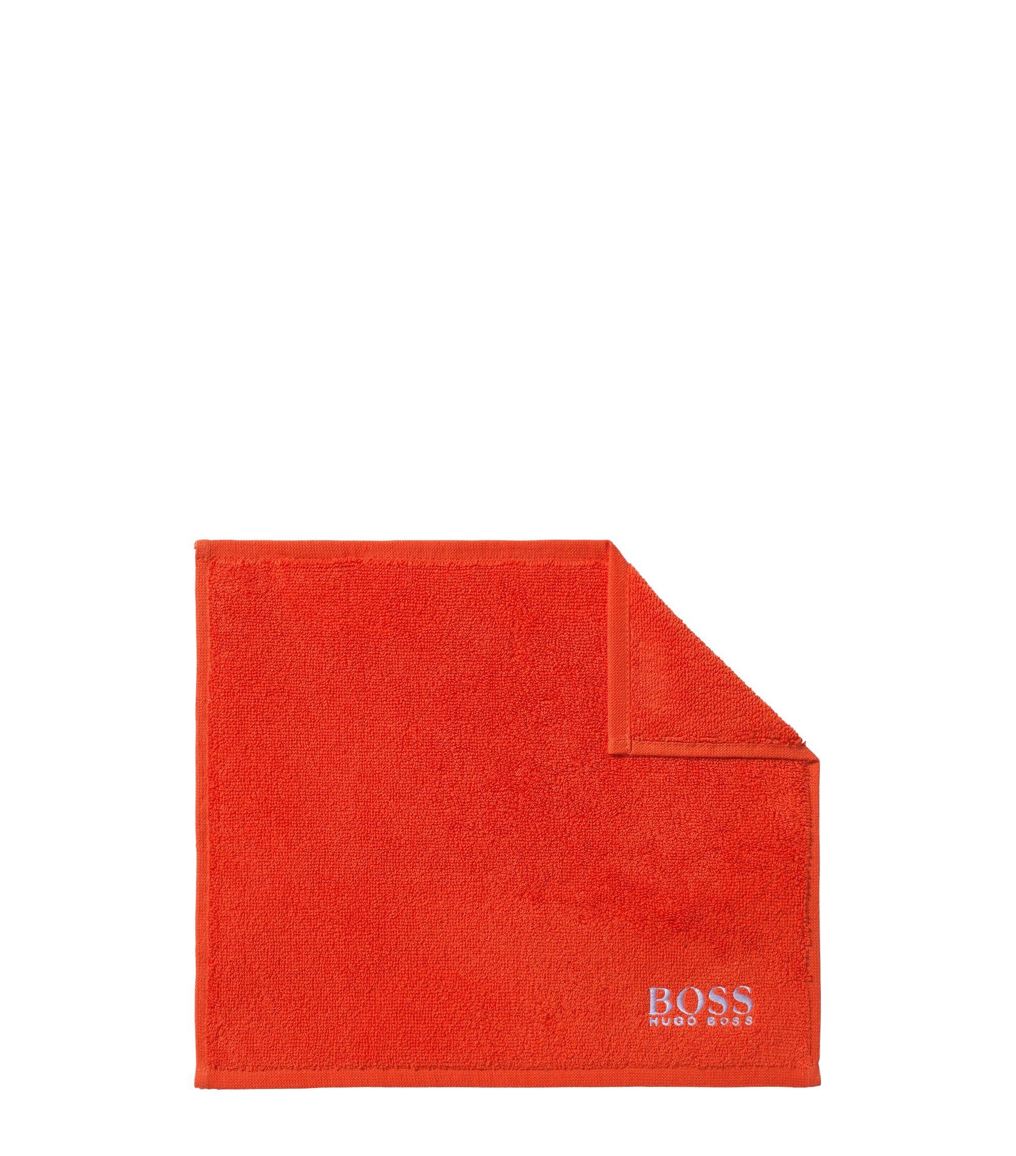 Serviette de toilette pour le visage en coton égyptien des plus raffinés avec logo brodé, Orange