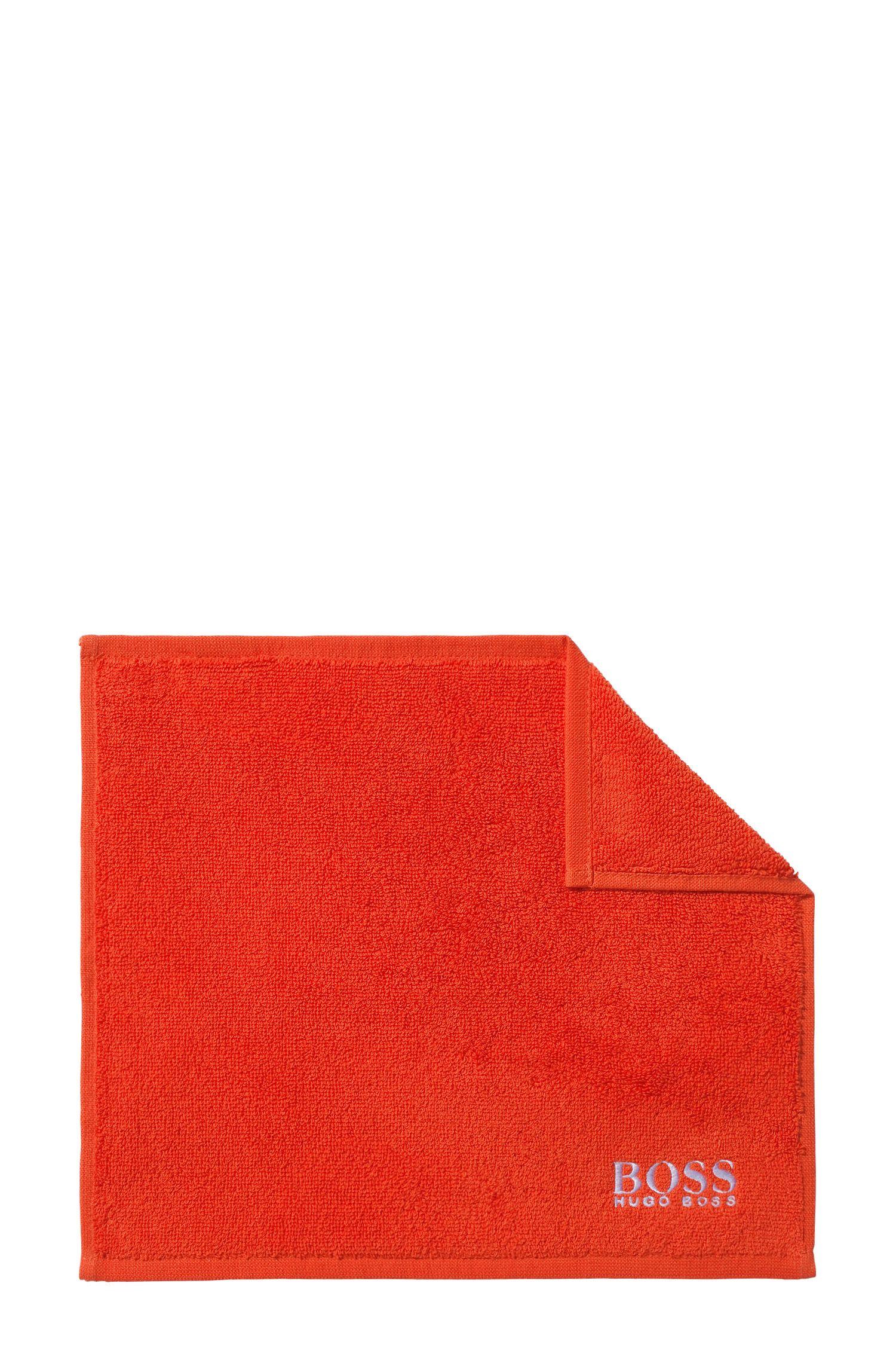 Washandje van de fijnste Egyptische katoen met logostiksel, Oranje