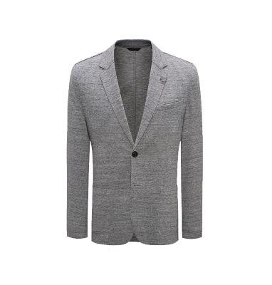 Veste de costume chinée à la coupe très étroite