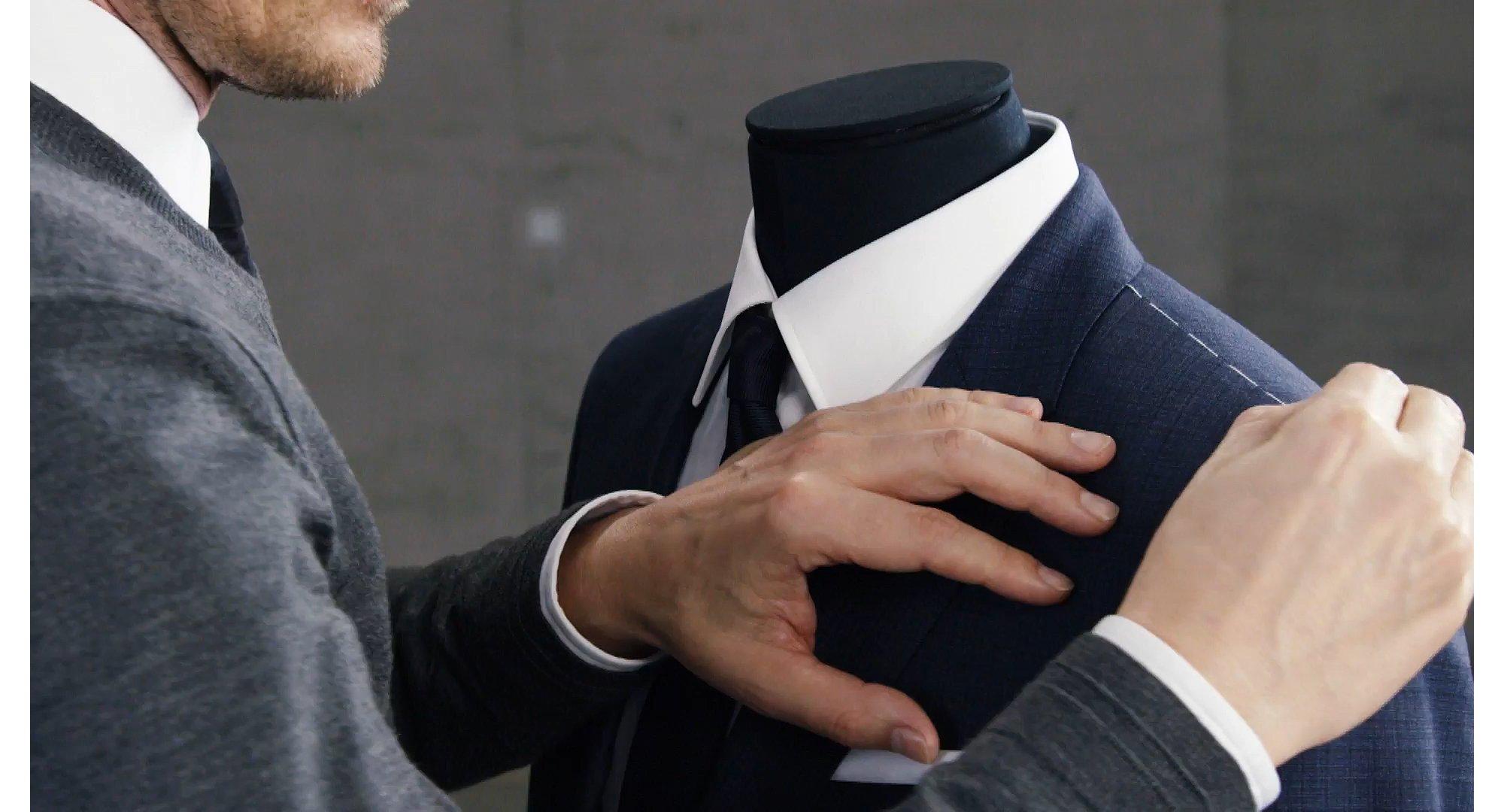 Fertigung von BOSS Anzügen.