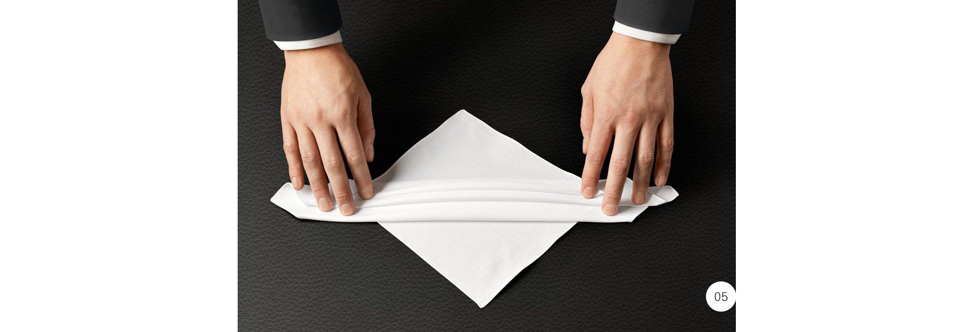 男装造型指南:如何叠好口袋方巾