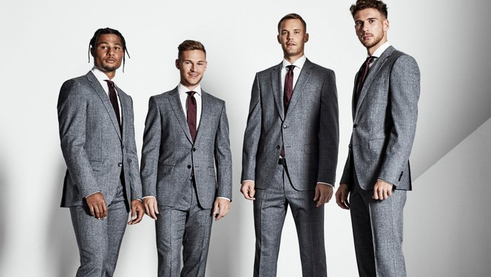 FC Bayern Munich football team dressed in BOSS