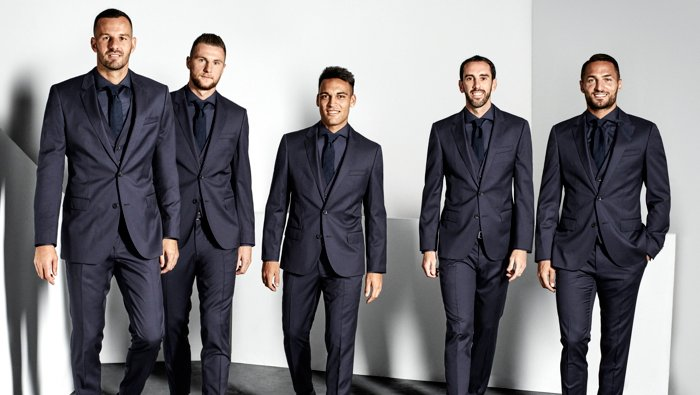 Players of Inter Milano dressed by BOSS