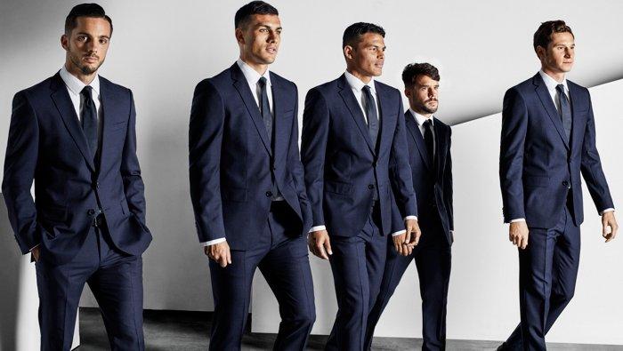 Professional football club Paris Saint-Germain suited by BOSS