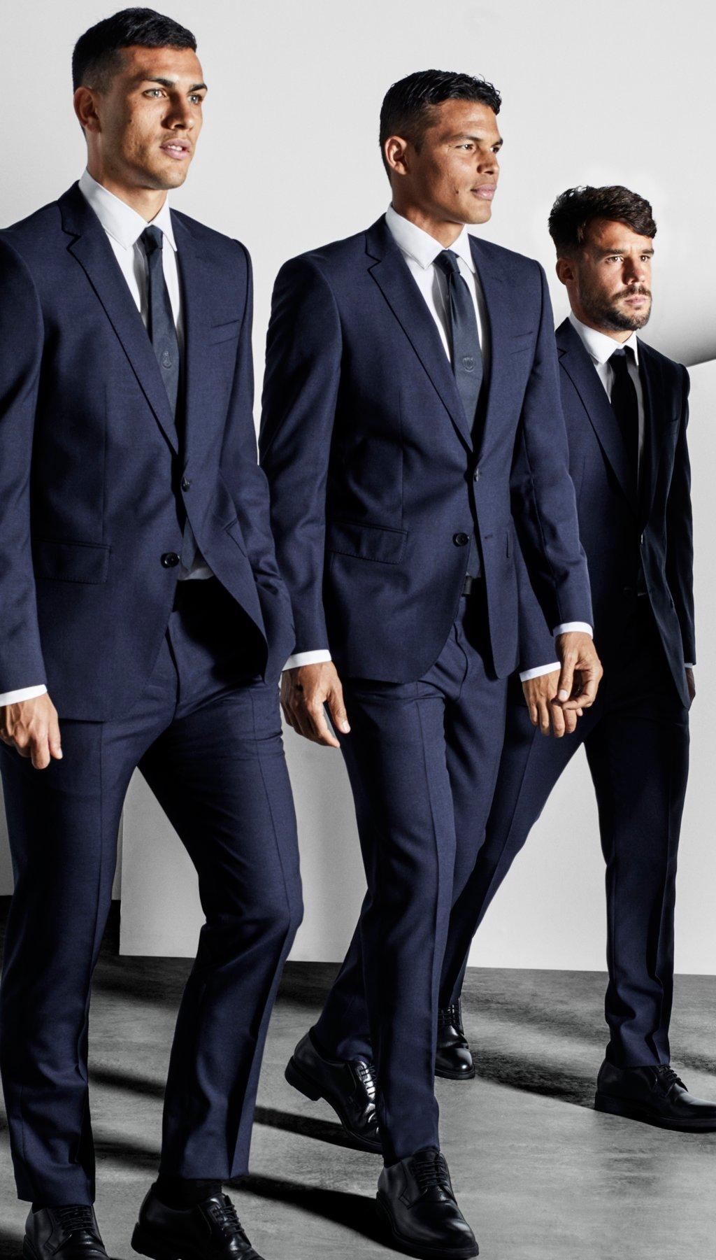 Paris Saint Germain F C Players Dressed In Boss Suits More