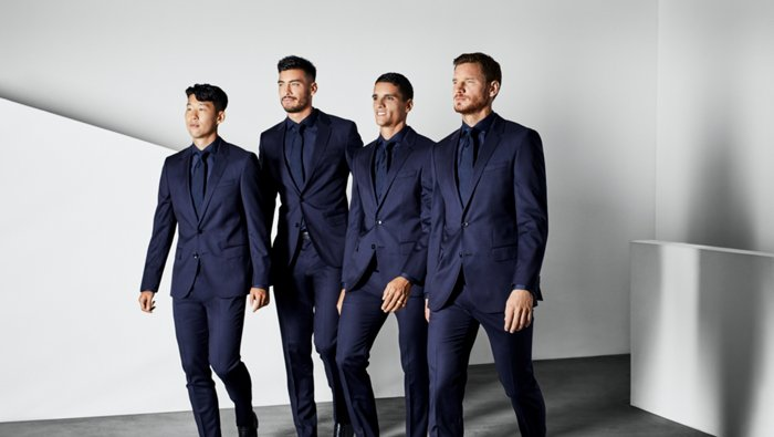 Tottenham Hotspur players suited by BOSS