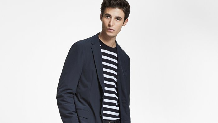 Grey cashmere look for men by BOSS