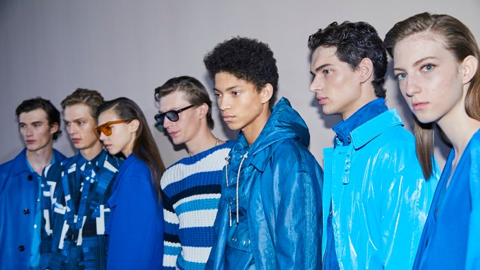 Models on the runway at the BOSS Fashion Show Spring/Summer 2020 in Milan
