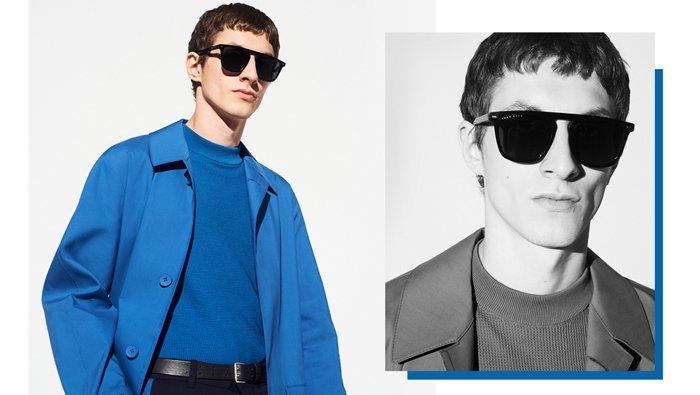 Medium blue outerwear look for men by BOSS