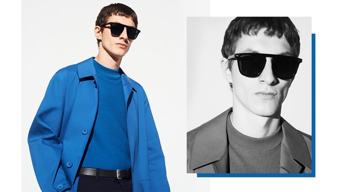 Medium blue outerwear look for men by BOSS