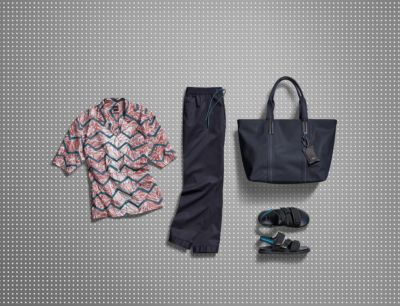 Shirt, trousers, shoes and bag from BOSS