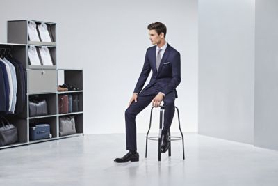 Man wearing suit from BOSS
