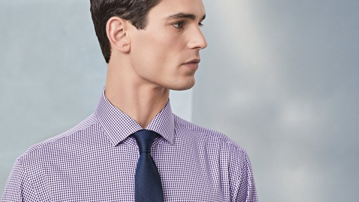 How to match shirts with ties guide from BOSS