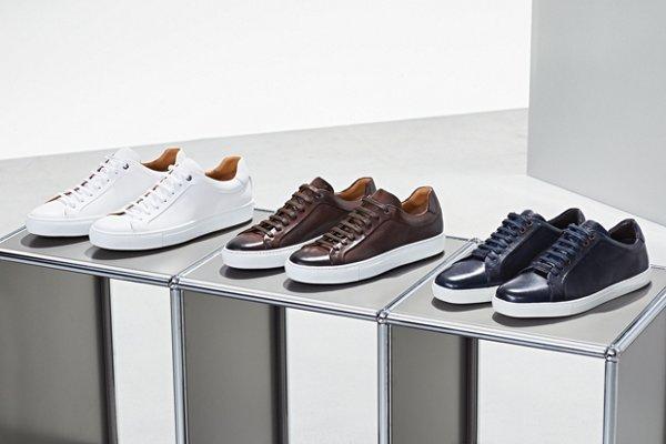 ca389c7116 White and dark beige sneakers from BOSS menswear ...