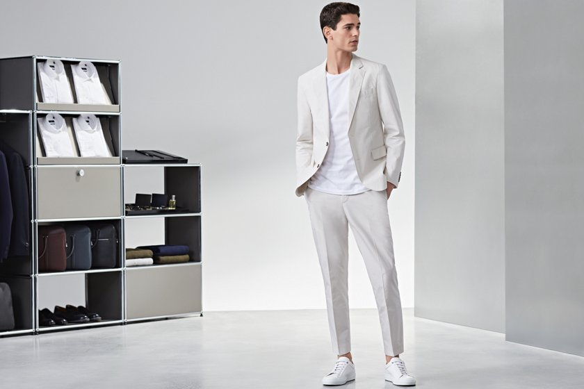 f3871c08e423 10 rules of trainers | Combining trainers with suit or chinos | BOSS