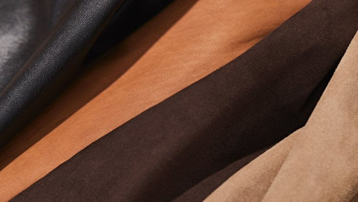 Different leather fabrics by BOSS