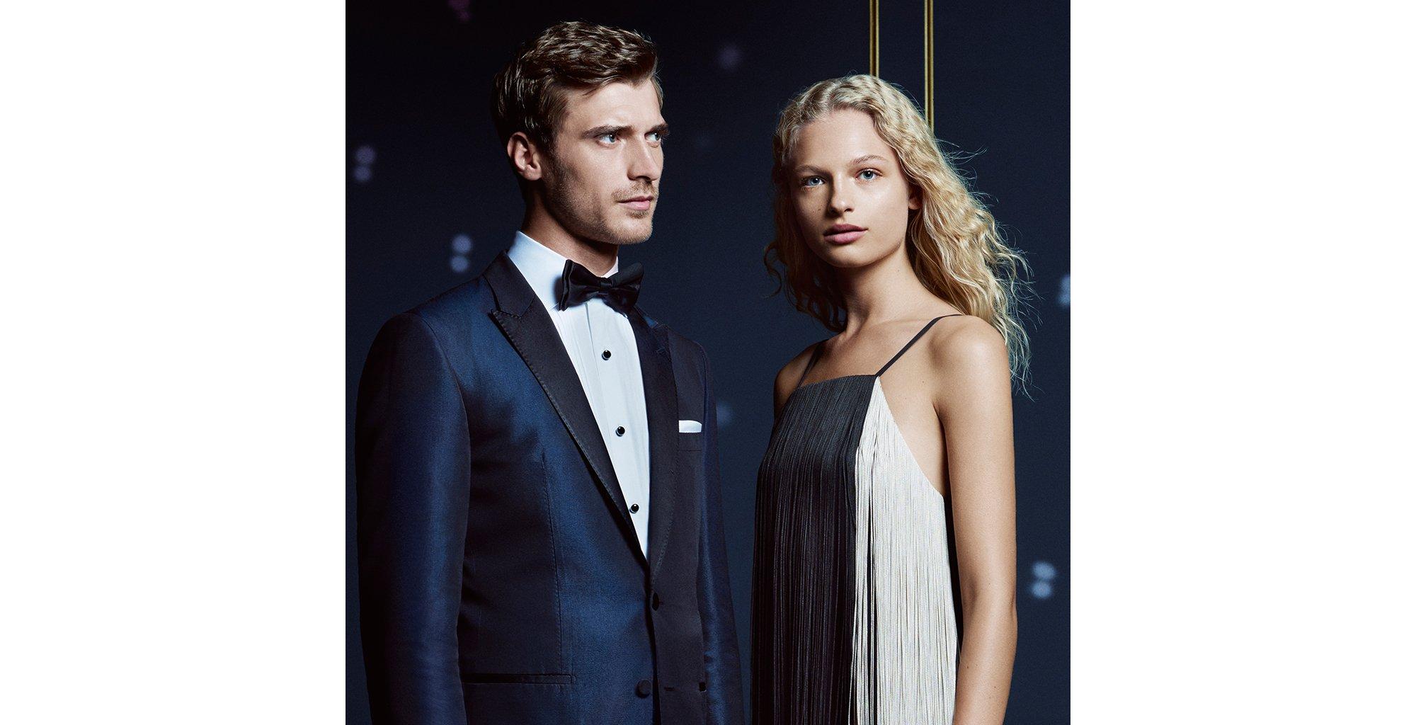 Black tie-looks voor hem en haar van BOSS