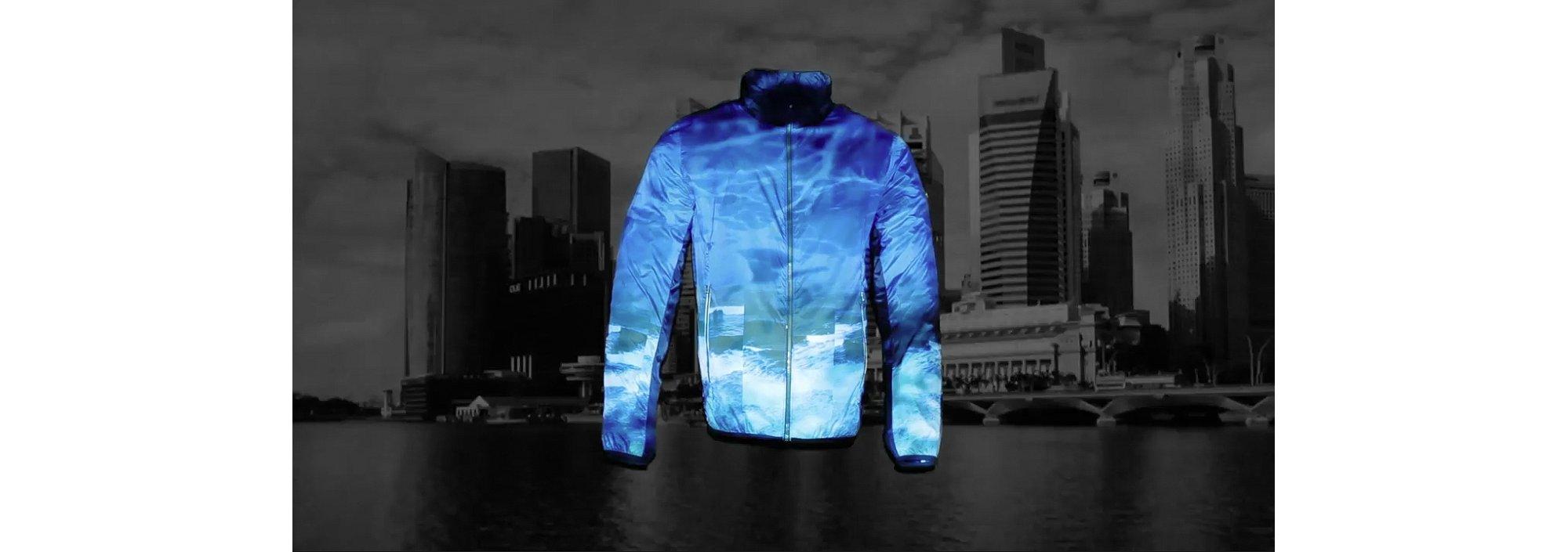 Video introducing blue Jocean jacket by BOSS Green