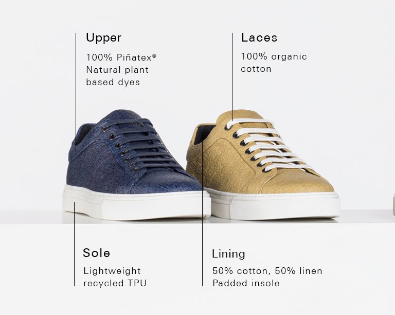 a382fec7811 HUGO BOSS | Vegan Shoes | Pinapple Trainers for Men