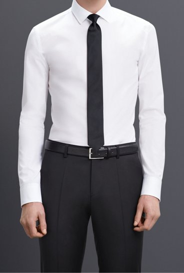 3babeb5c3 ... hugo boss tie 4b10e d748e; best price white extra slim fit shirt and  black tie by boss 5ff66 18208