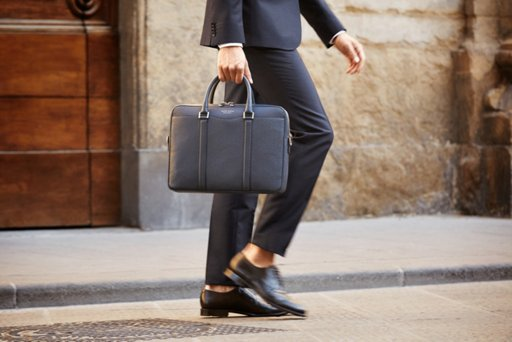 771fbd992c ... Black Signature Bag and suit by BOSS
