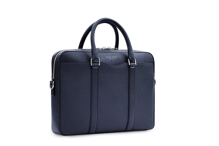 'Signature S Doc' | Italian Calfskin Workbag, Detachable Shoulder Strap