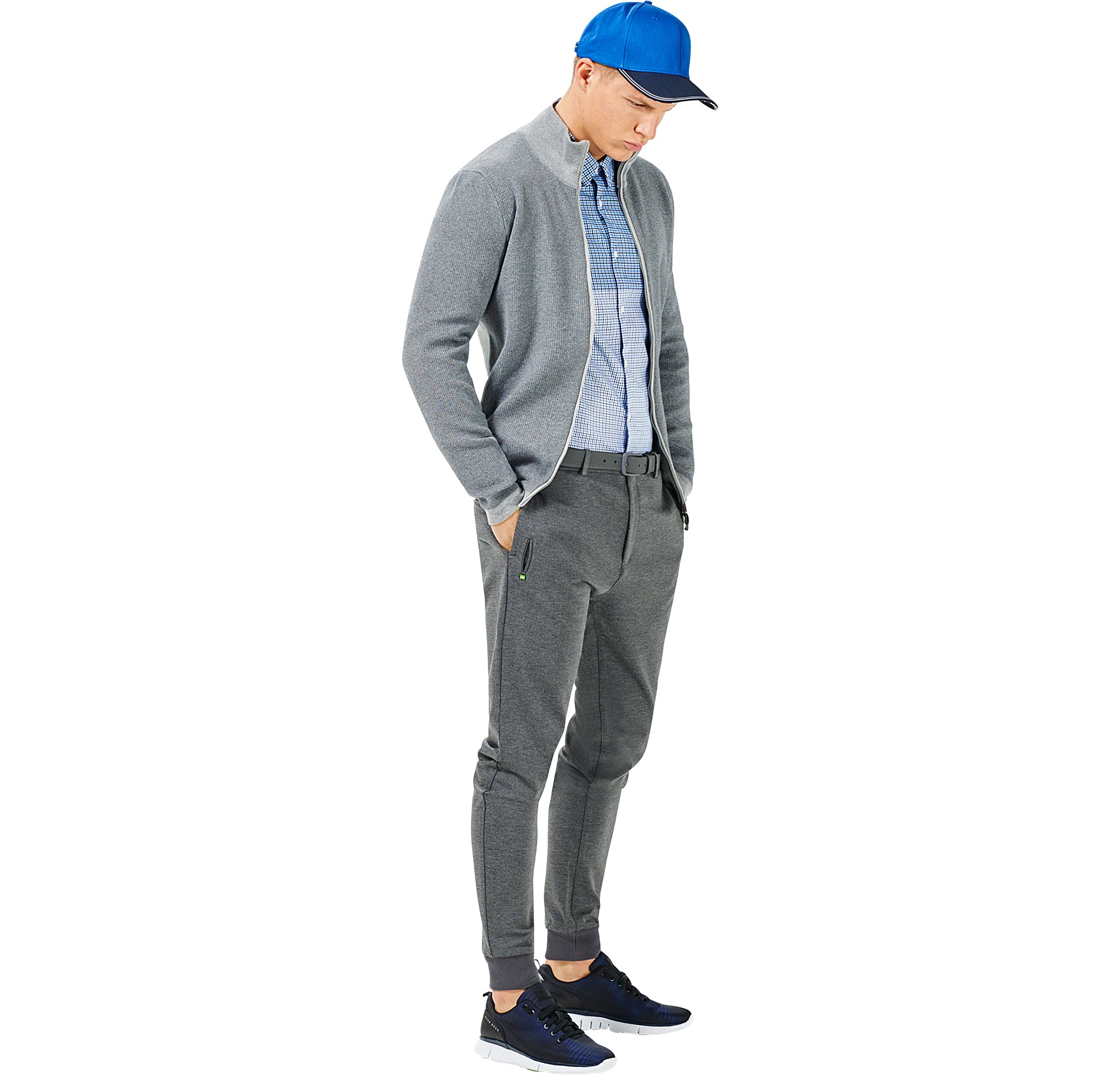 Knitwear, shirt, jersey, trousers and shoes by BOSS Green Menswear