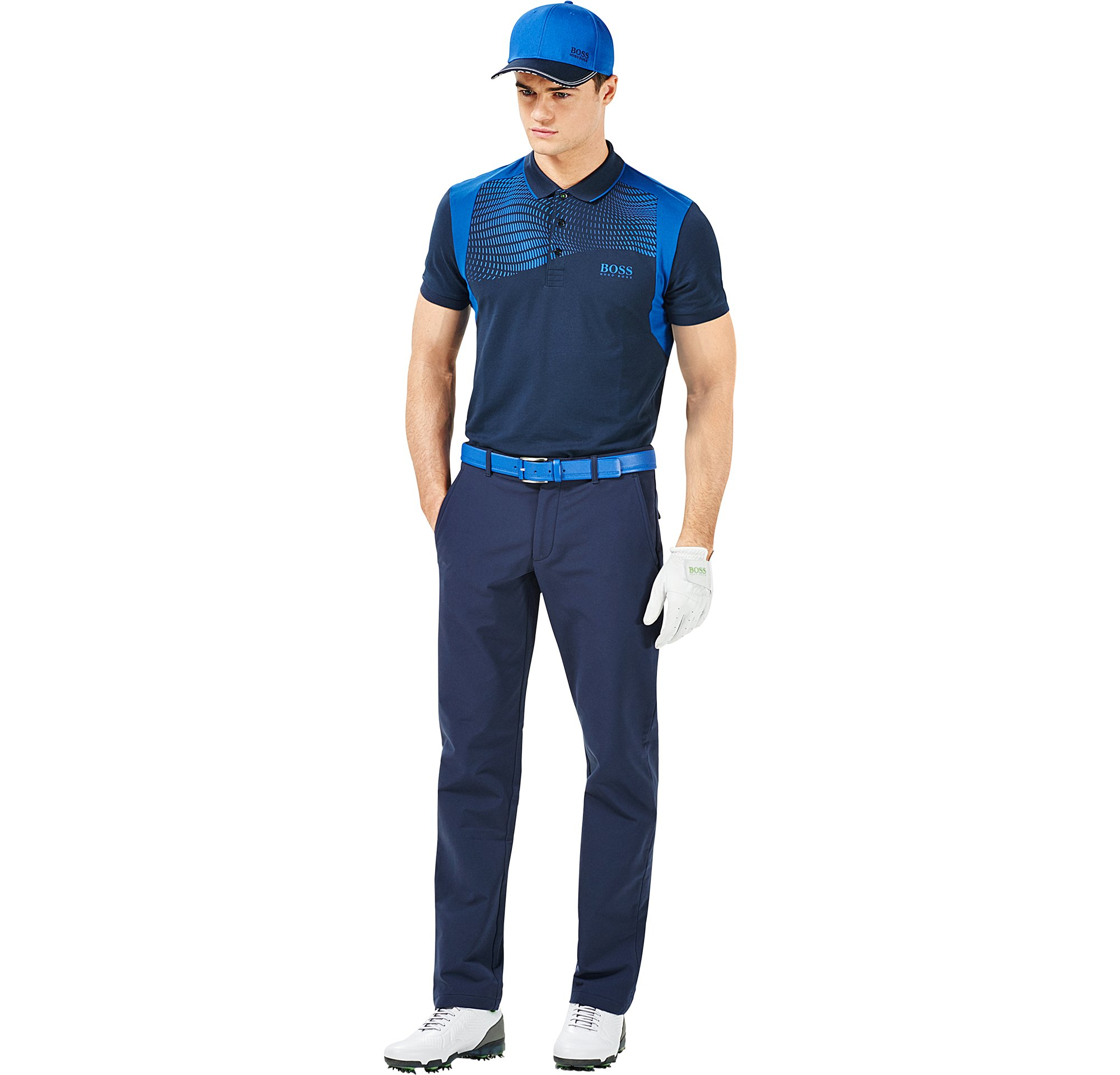 Polo, trousers, gloves, cap and shoes by BOSS Green Menswear