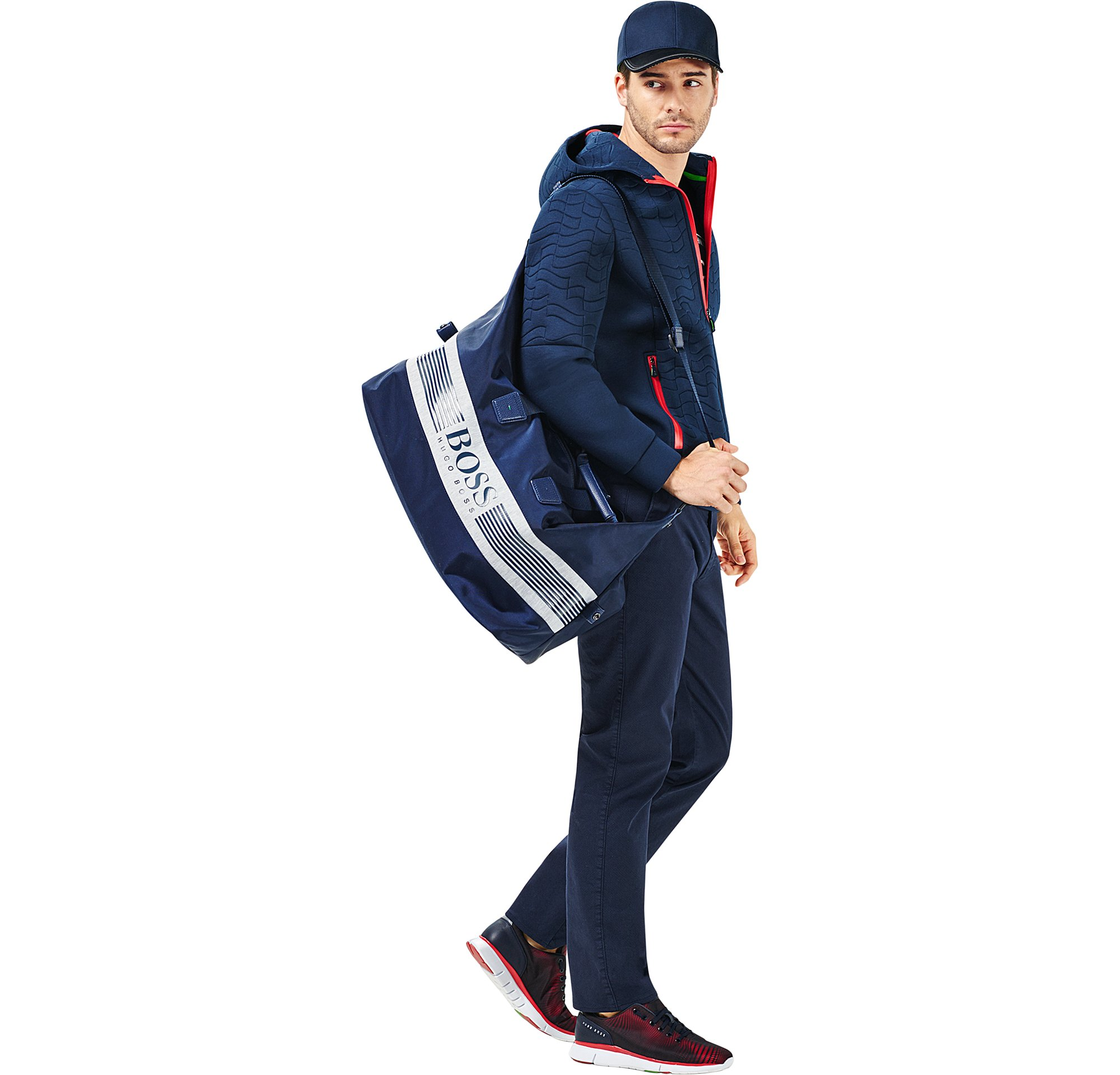 Outerwear,  jersey, trousers, shoes, cap and bag by BOSS Green Menswear