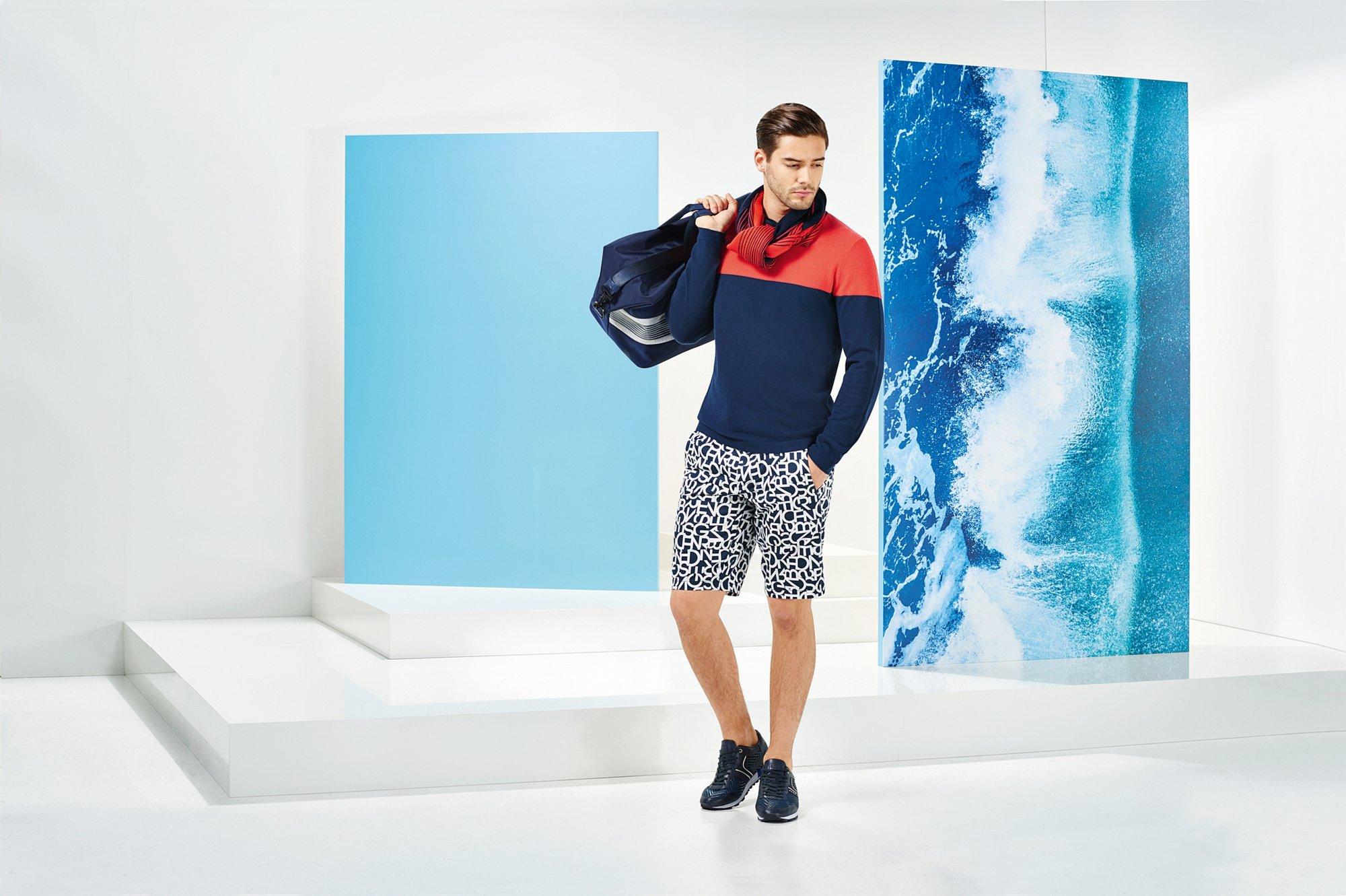 Blue outerwear by BOSS Green