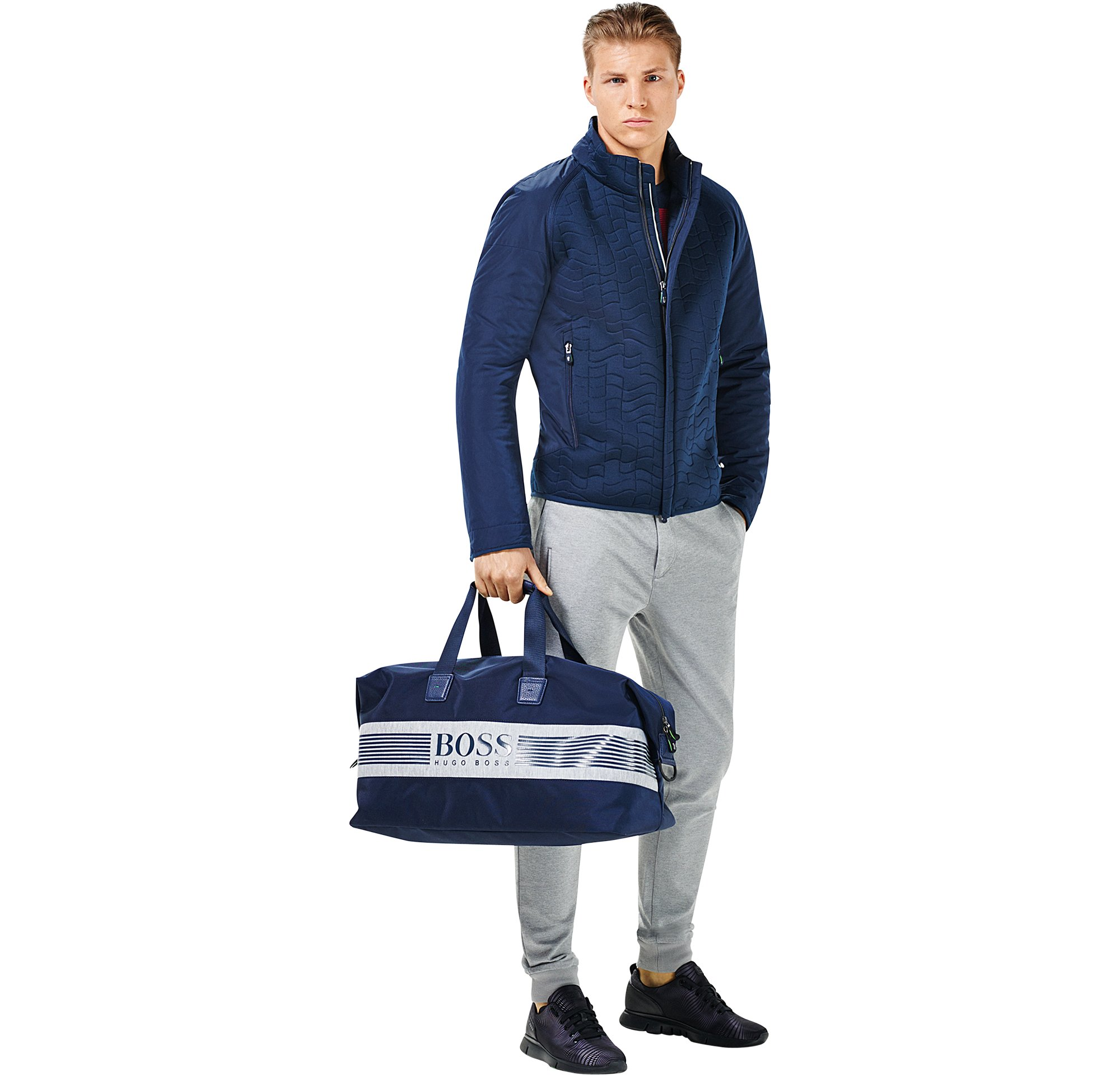 Outerwear, knitwear, trousers, shoes and bag by BOSS Green Menswear
