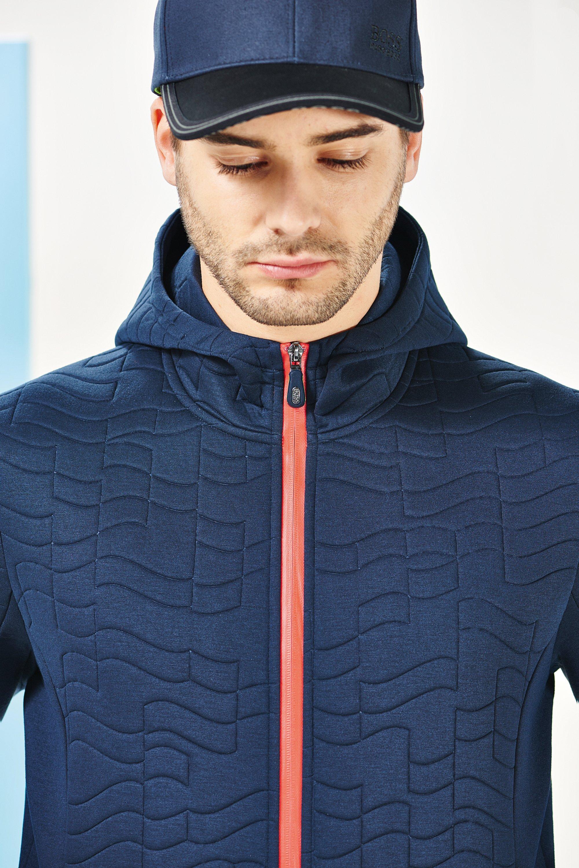 Marineblaue Jacke und Hut von BOSS Green Menswear