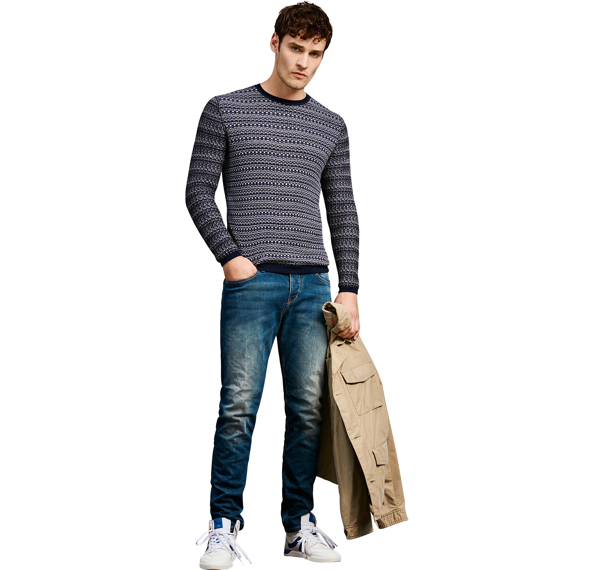 Naturfarbene Outerwear, Strick und Jeans von BOSS Orange