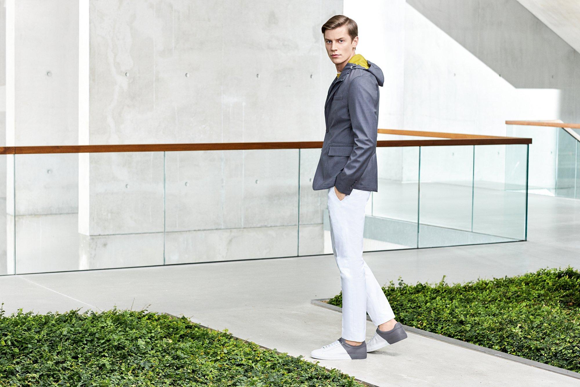 Jacket, jersey, knitwear, jeans, shoes by BOSS Meanswear