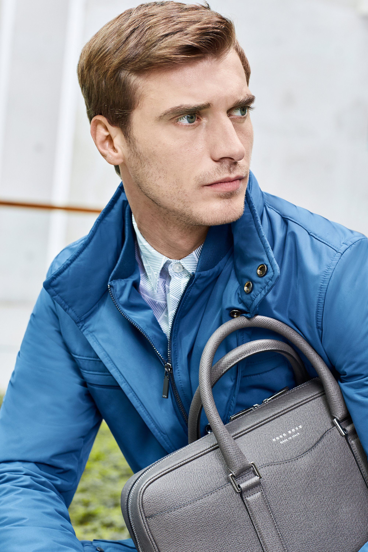 Jacket, shirt and bag by BOSS Menswear