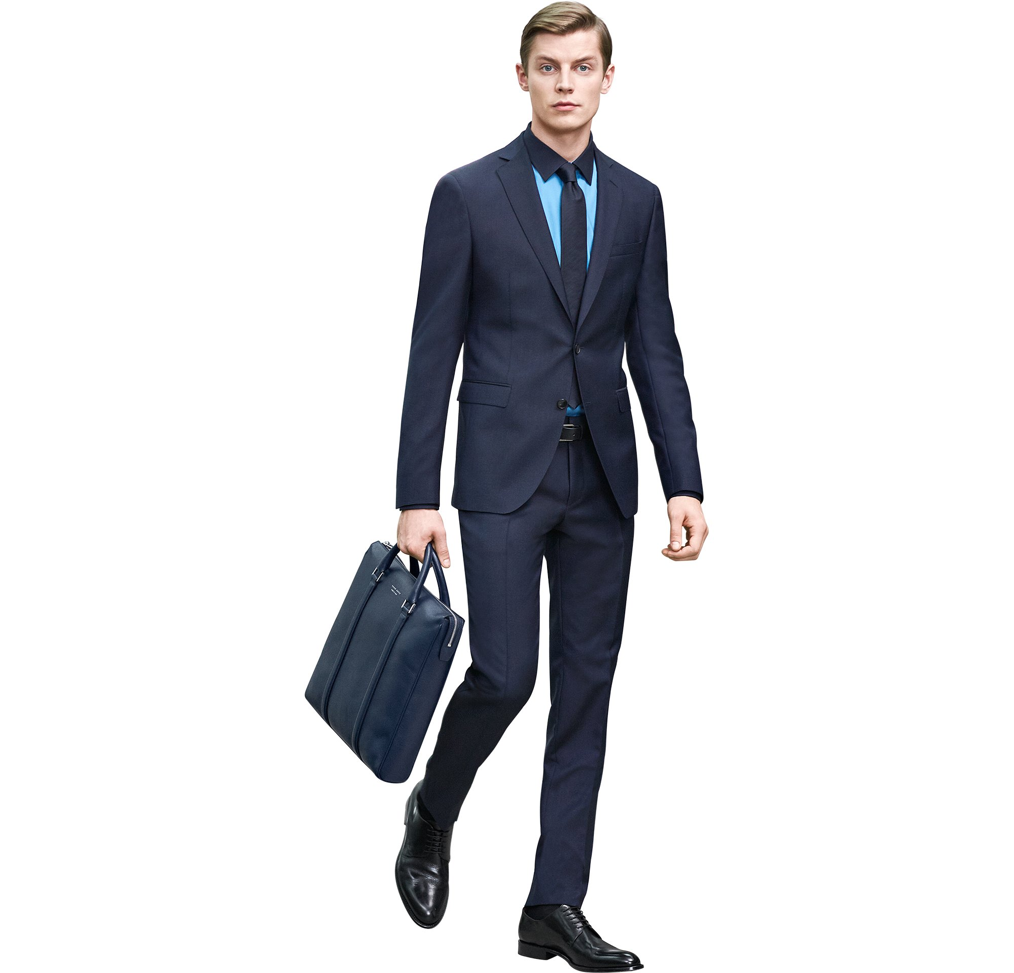 Costume, chemise, cravate, sac et chaussures BOSS Homme