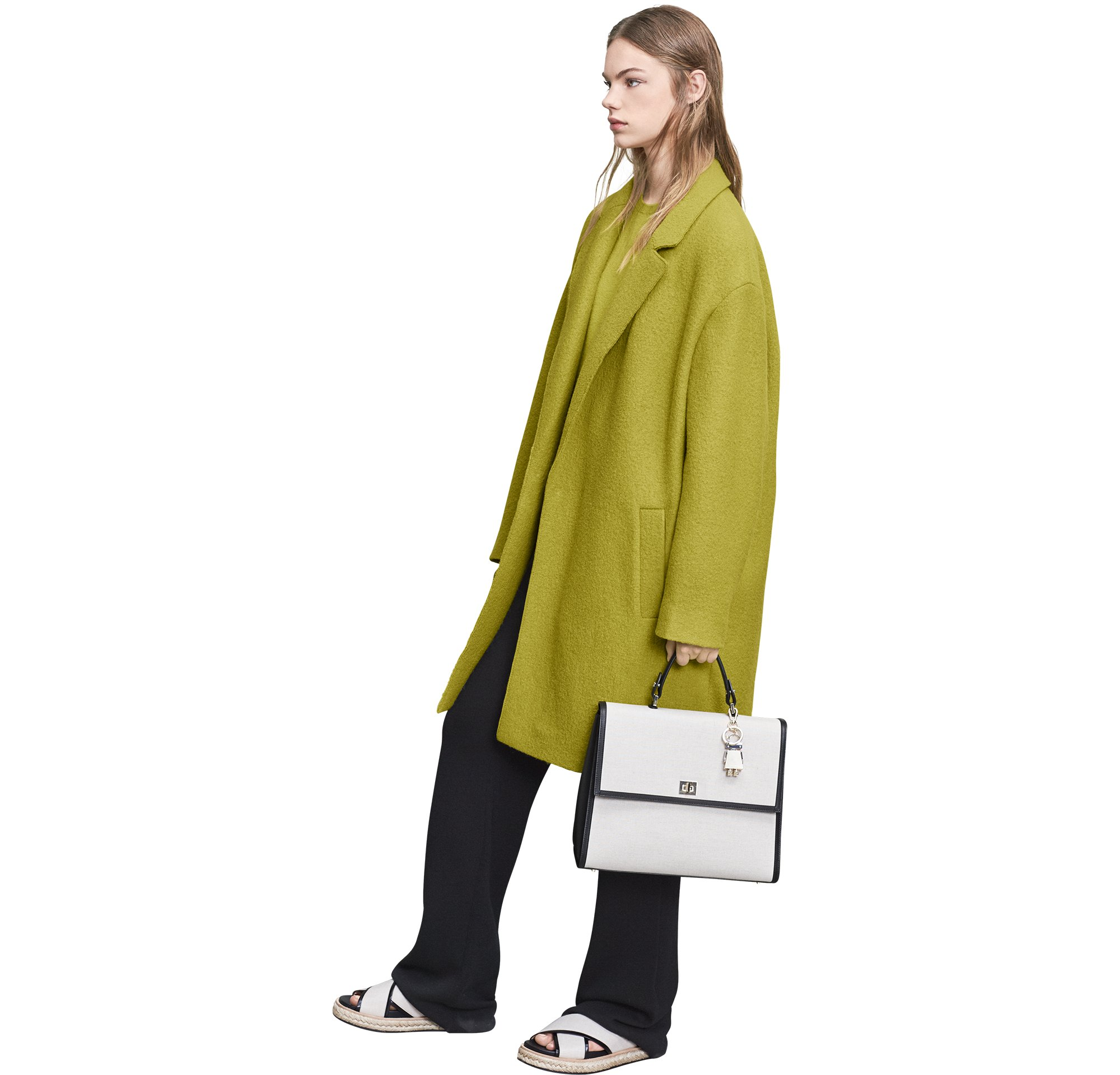 Coat, trousers, bag and shoes by BOSS Womenswear