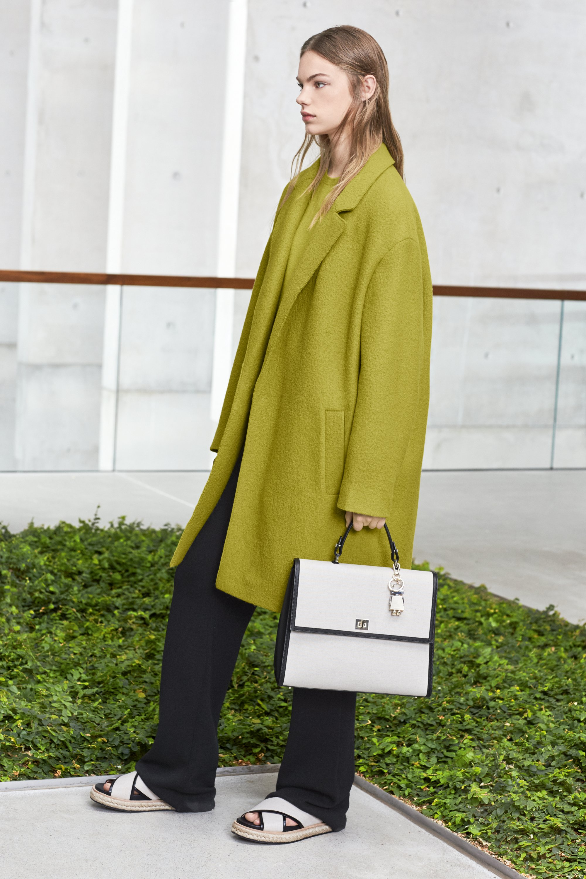 Green coat by BOSS Womenswear