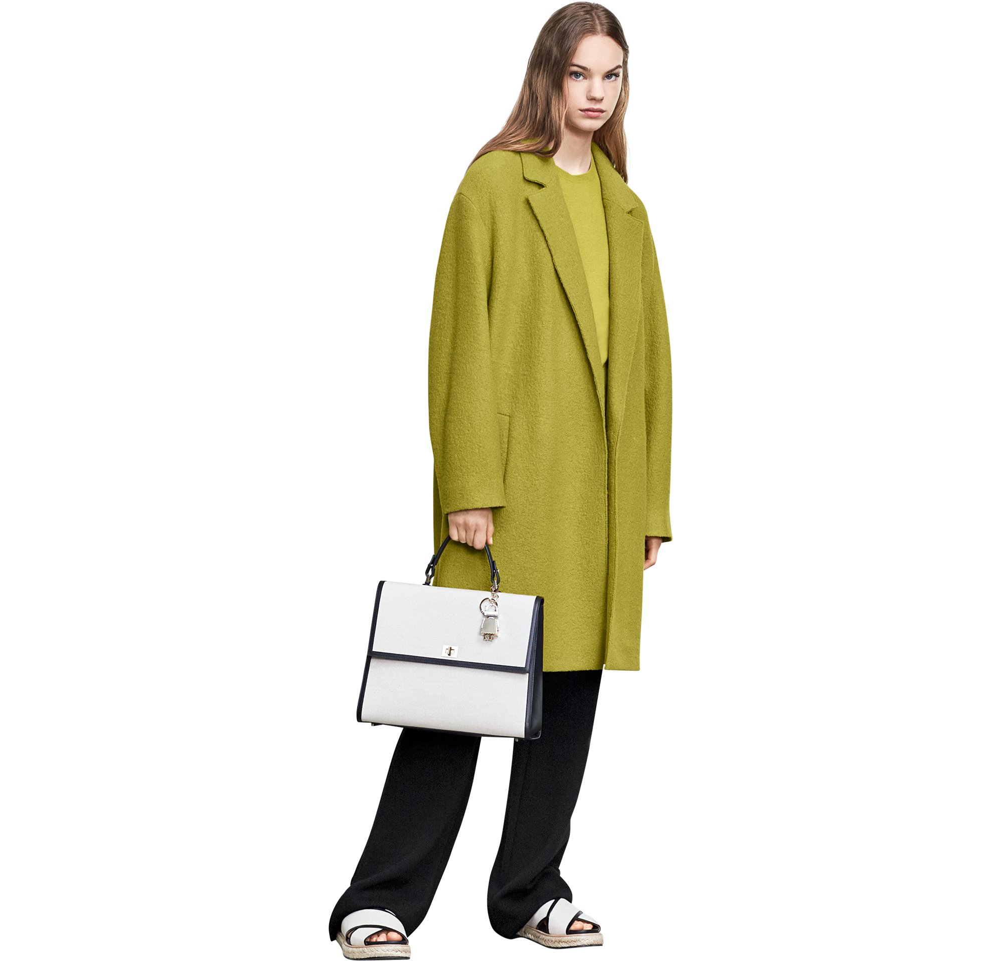 Green coat with bag and shoes by BOSS