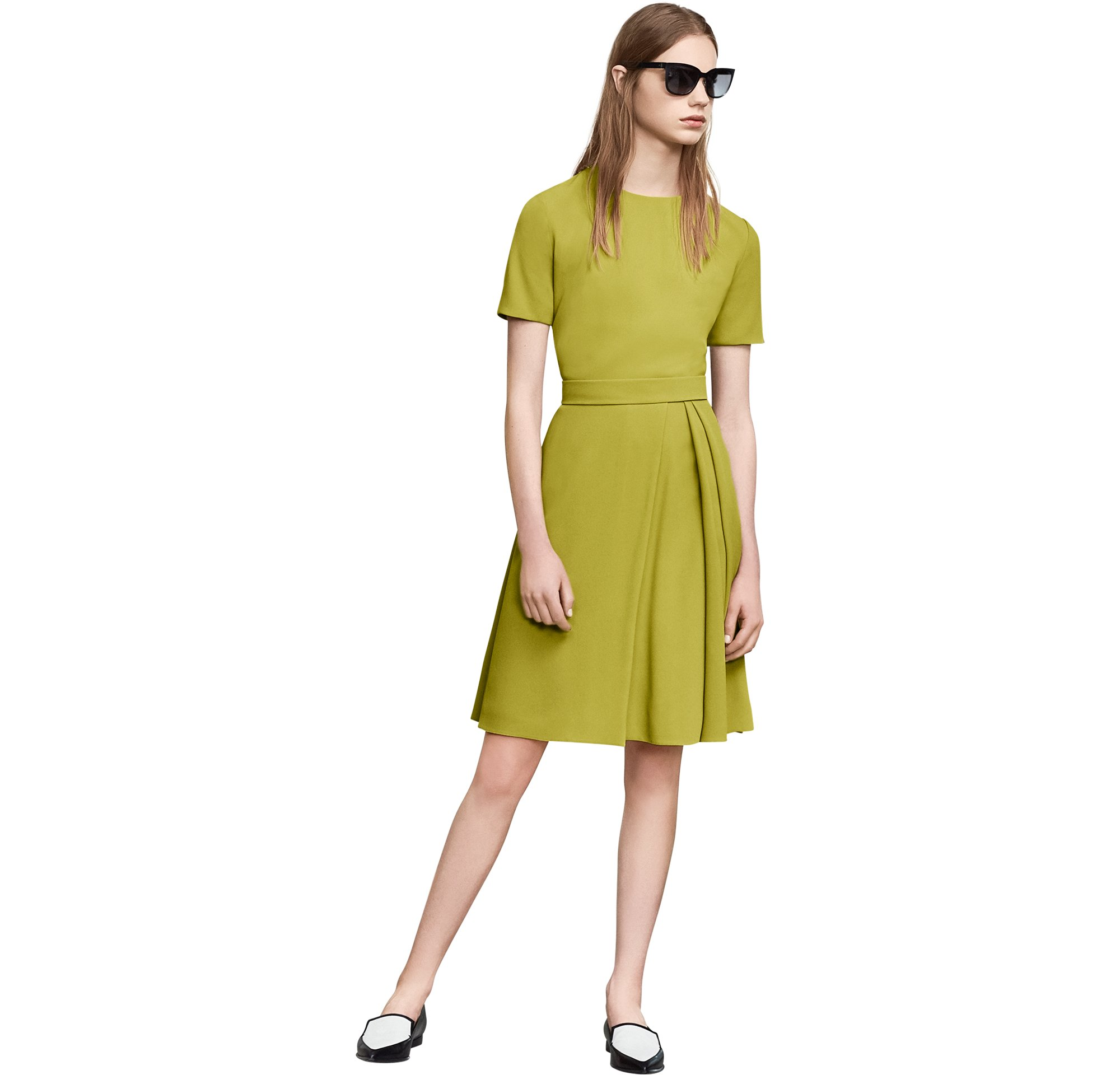 Green dress and shoes by BOSS