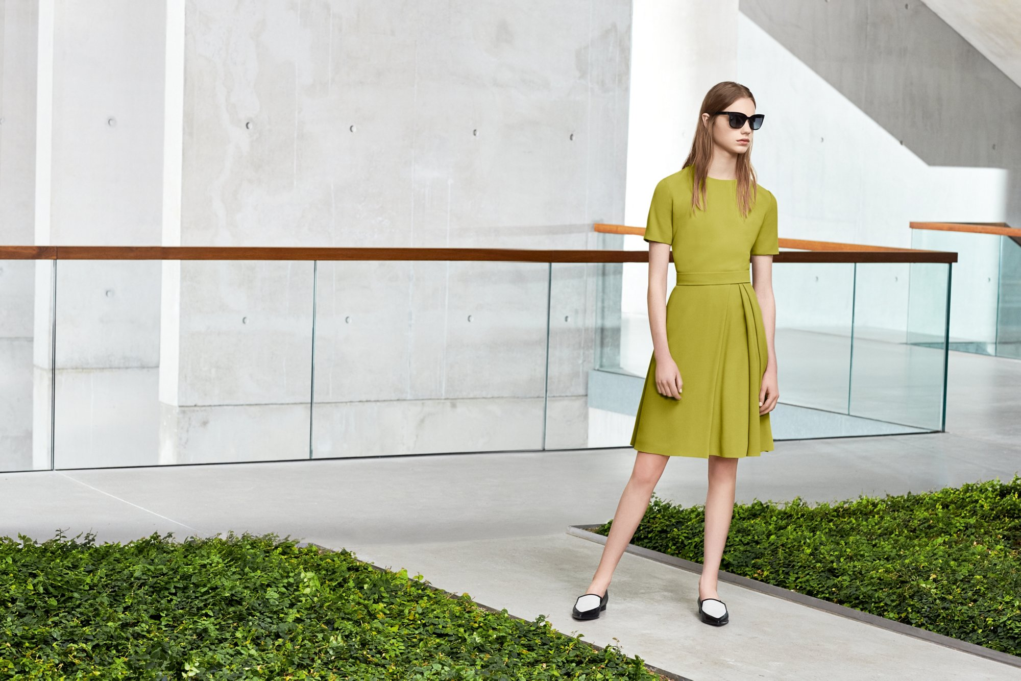 Green dress by BOSS