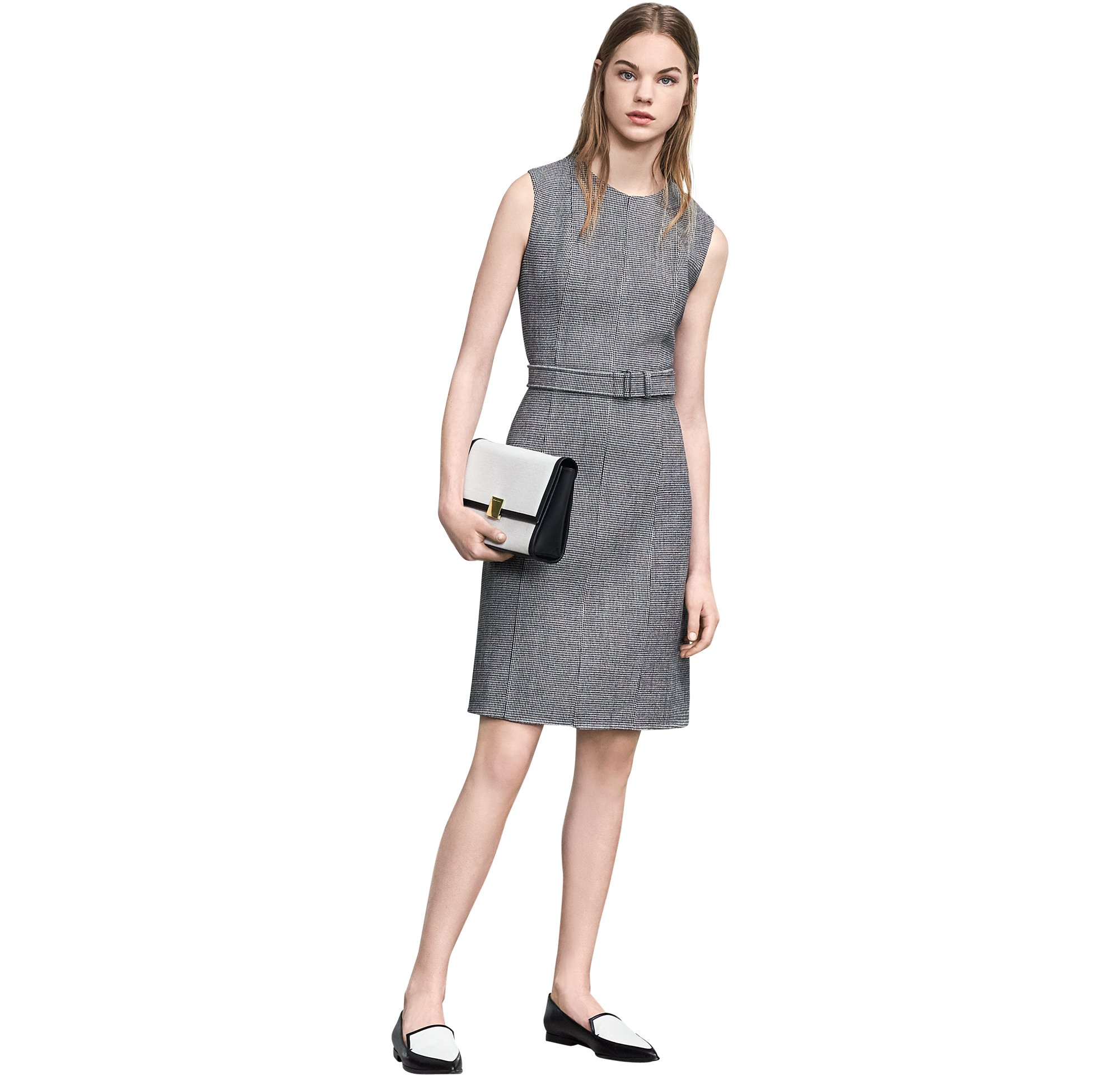 Grey dress with bag and shoes by BOSS