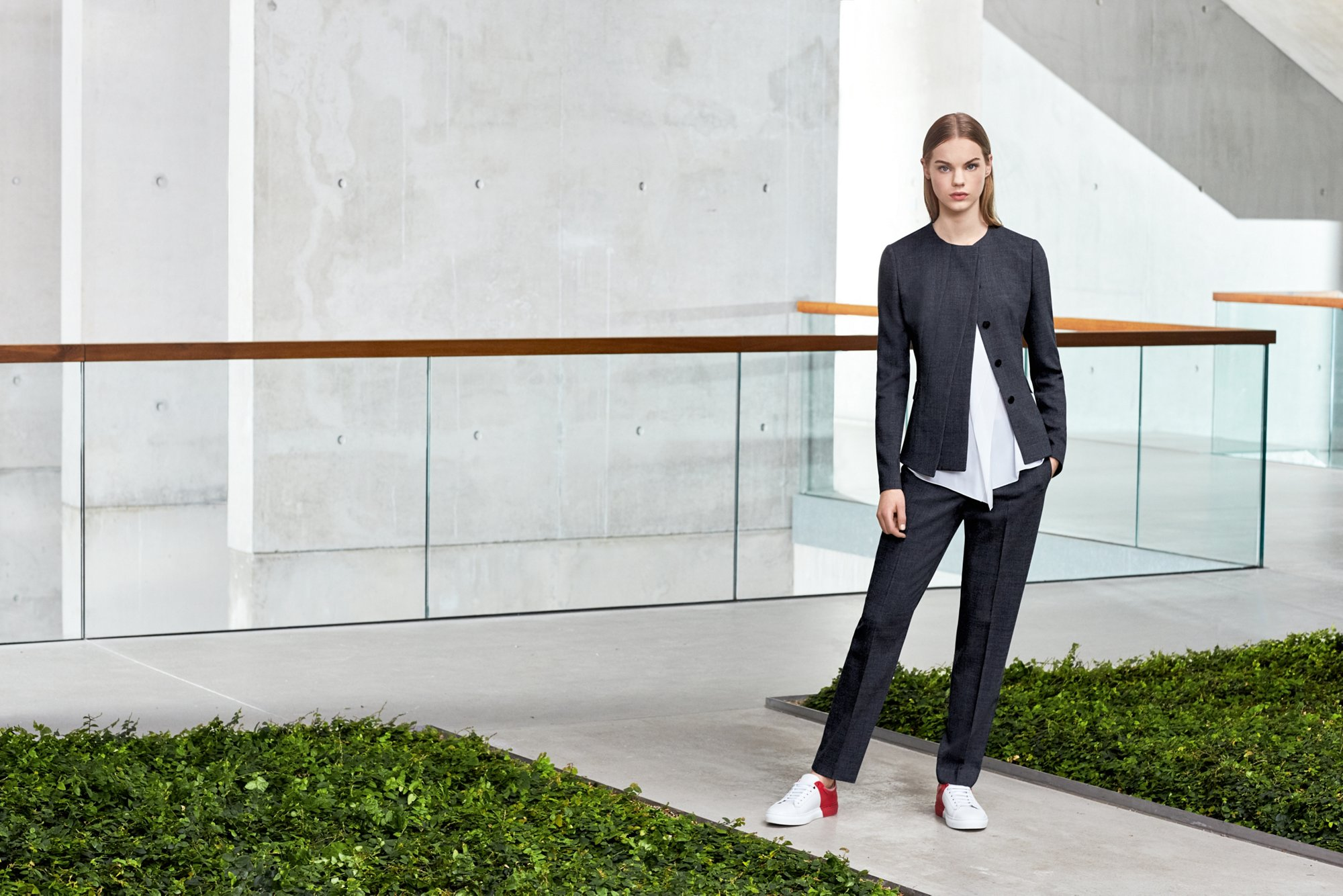Jacket, top and trousers by BOSS Womenswear