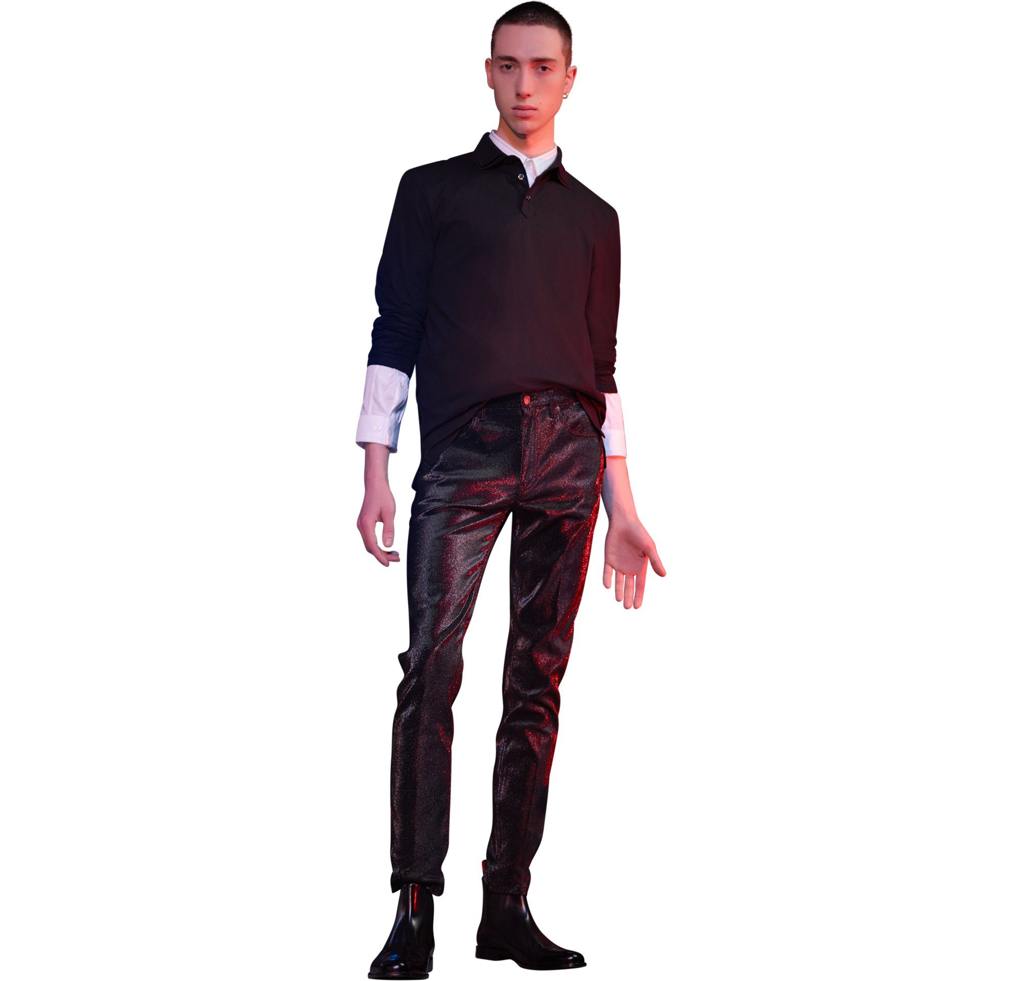 Pullover, shirt, trousers by HUGO Menswear