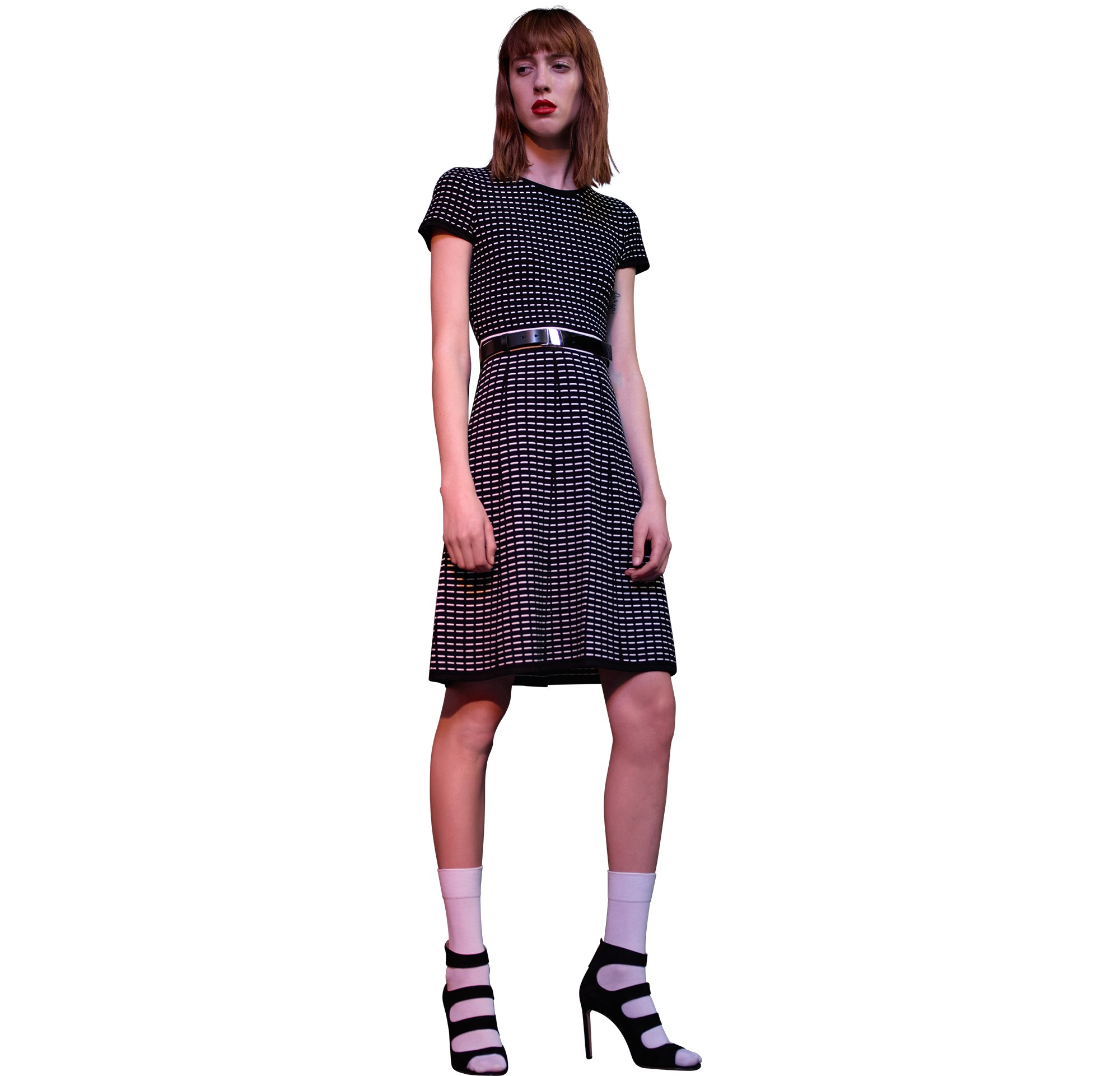 Strick und schwarze Schuhe von HUGO