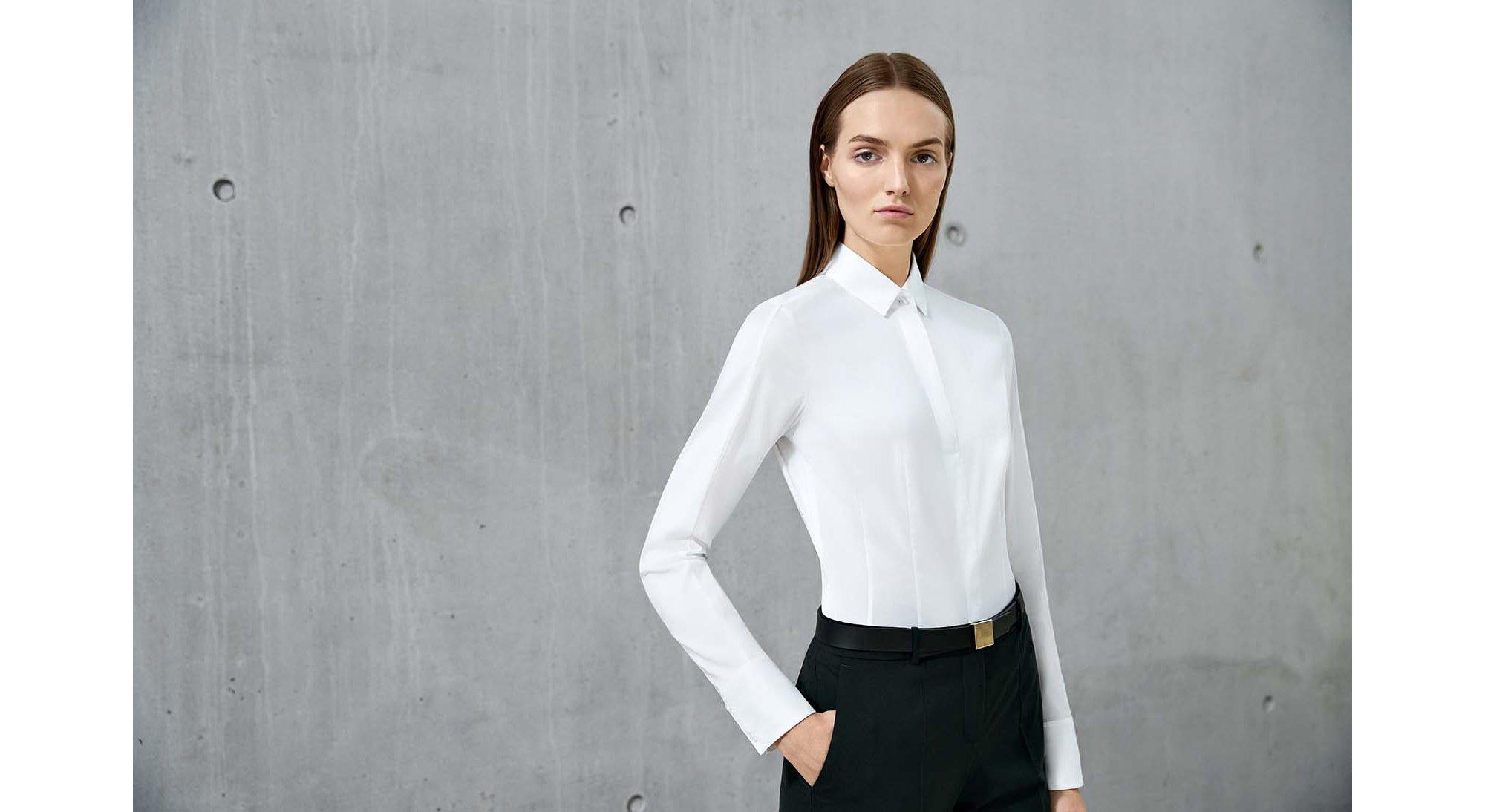 Chemise blanche et pantalon noir BOSS
