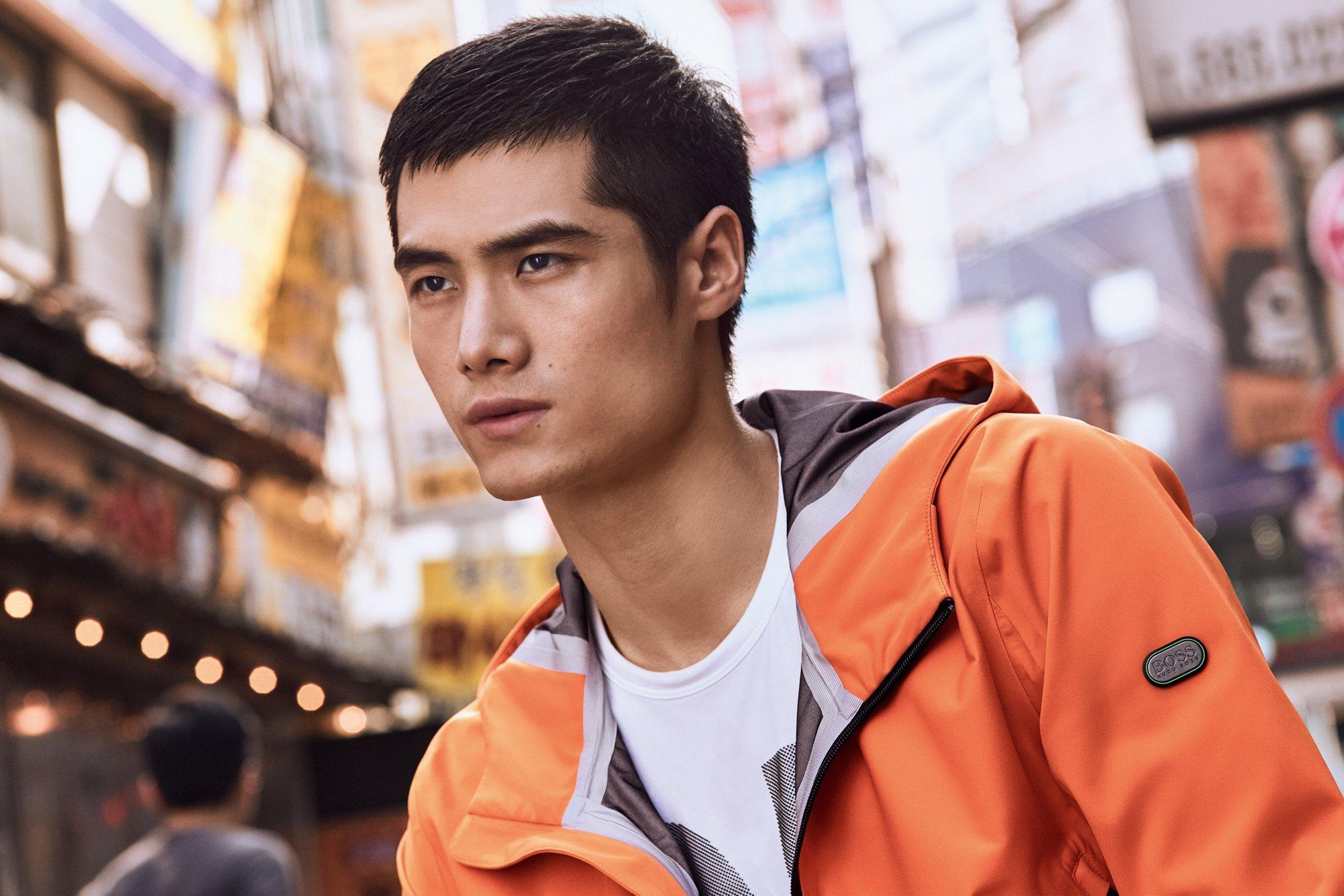Orange Japple jacket by BOSS Green