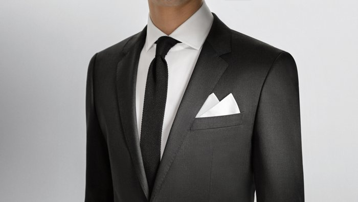 Pocket square guide from BOSS
