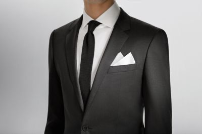Suit, shirt, tie and pocket square from BOSS